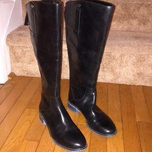 Franco Sarto Black Becky Knee High Wide Calf Boot